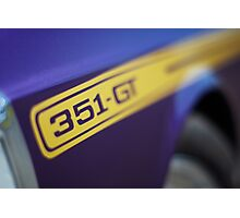 Purple Ford Falcon XY GT 351 Photographic Print