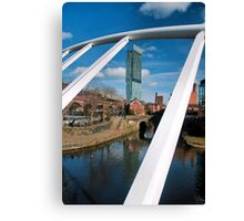 view thru the bridge.. Canvas Print