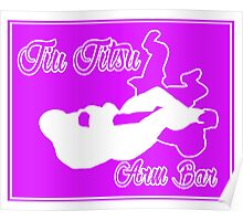Jiu Jitsu Arm Bar White  Poster