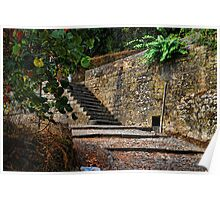 Approaching a staircase at Calçada de São Tiago Poster