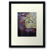 Celtic plains garter snake Framed Print