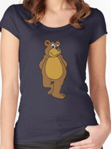 Cute Bear Women's Fitted Scoop T-Shirt