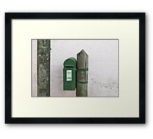 Kinsale postbox Framed Print
