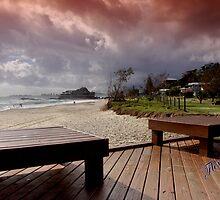 Stormy morning at Currumbin Beach by flexigav