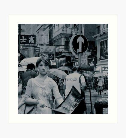 Hong Kong street scene Art Print