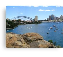 Step Up to Sydney Harbour Canvas Print