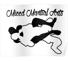Mixed Martial Arts Rear Naked Choke Black  Poster