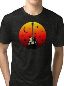 Old Guitar,moon,stars Tri-blend T-Shirt