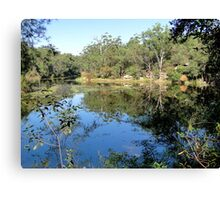 Reflecting Nature - Lake Parramatta Canvas Print