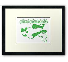 Mixed Martial Arts Rear Naked Choke Green  Framed Print