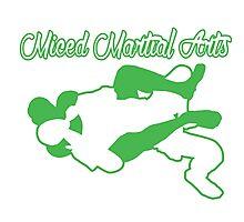 Mixed Martial Arts Rear Naked Choke Green  Photographic Print