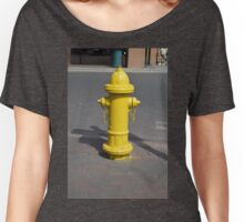 Yellow Fire Hydrant by Santa Fe Plaza Women's Relaxed Fit T-Shirt