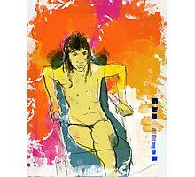 woman seaten v4 Photographic Print