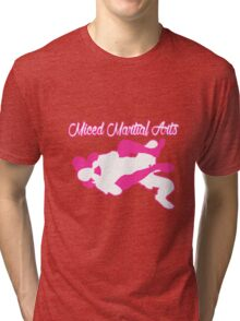 Mixed Martial Arts Rear Naked Choke Pink  Tri-blend T-Shirt