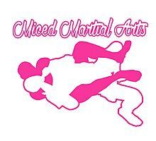 Mixed Martial Arts Rear Naked Choke Pink  Photographic Print