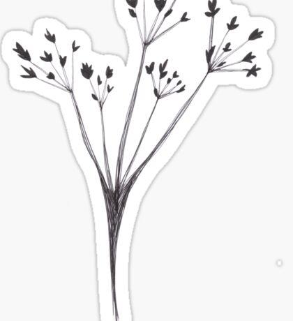 Winter Flower Sticker