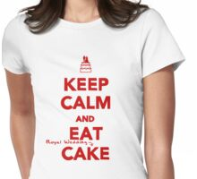 Keep Calm and Eat [Royal Wedding] Cake | Red Womens Fitted T-Shirt