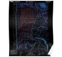 USGS Topo Map Oregon Sycan Marsh East 281731 2004 24000 Inverted Poster