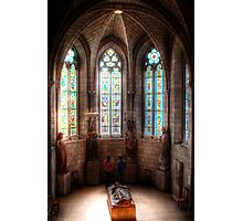 Stained Glass Tomb Photographic Print