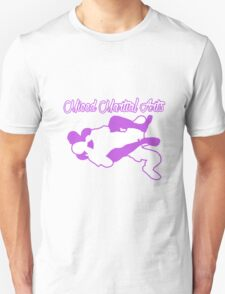 Mixed Martial Arts Rear Naked Choke Purple  Unisex T-Shirt