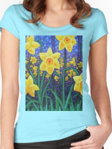 Daffodil Cluster Women's Fitted Scoop T-Shirt
