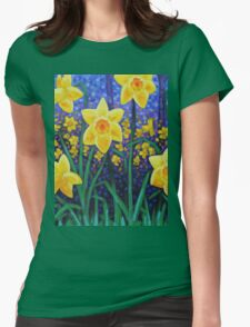 Daffodil Cluster Womens Fitted T-Shirt