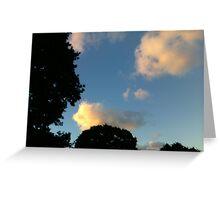 Face Cloud Greeting Card
