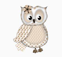 Pretty Owl in Beige Unisex T-Shirt