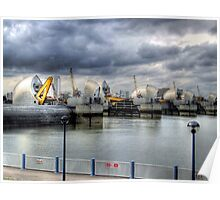At Work - Thames Barrier Poster