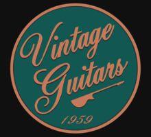 vintage guitars 1959 Kids Tee