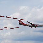 Virgin 747 & Red Arrows - 25 years 1 by jabisfab