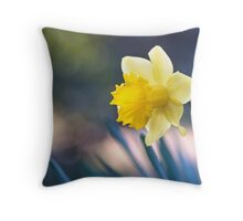 Narcissus Awakening Throw Pillow