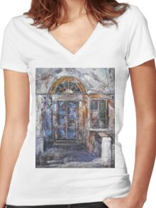 The Old Gate Women's Fitted V-Neck T-Shirt