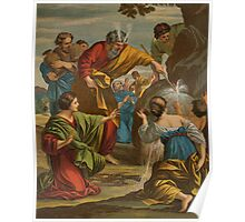 Moses striking the rock. Poster