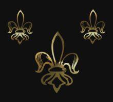 Fleurs de Lis - Golden by TriciaDanby