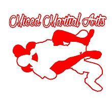 Mixed Martial Arts Rear Naked Choke Red  Photographic Print