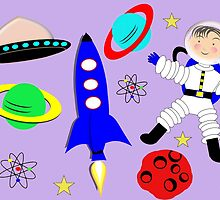 Cute Kids Outer Space Themed Design by Artification