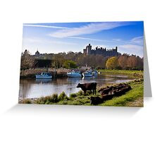 Arundel Castle From The River Greeting Card