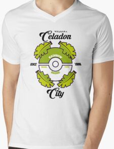 Pokemon Celadon City Mens V-Neck T-Shirt