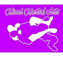 Mixed Martial Arts Rear Naked Choke White  Photographic Print