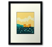 Golden castle Framed Print