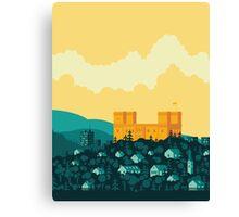 Golden castle Canvas Print