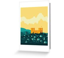Golden castle Greeting Card