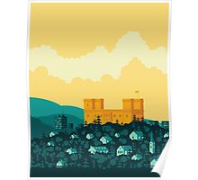 Golden castle Poster