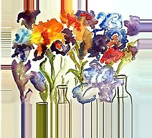 Irises in flower show by ArtbyInese2015