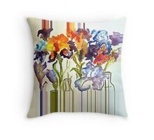 Irises in flower show Throw Pillow