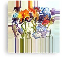 Irises in flower show Canvas Print