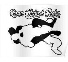 Rear Naked Choke Mixed Martial Arts Black  Poster