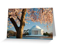 Jefferson and Cherry Blossoms Greeting Card