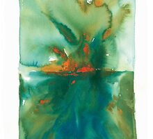 """Breakthrough"" Abstract Watercolor by Cathy Hunt by cathyhuntstudio"